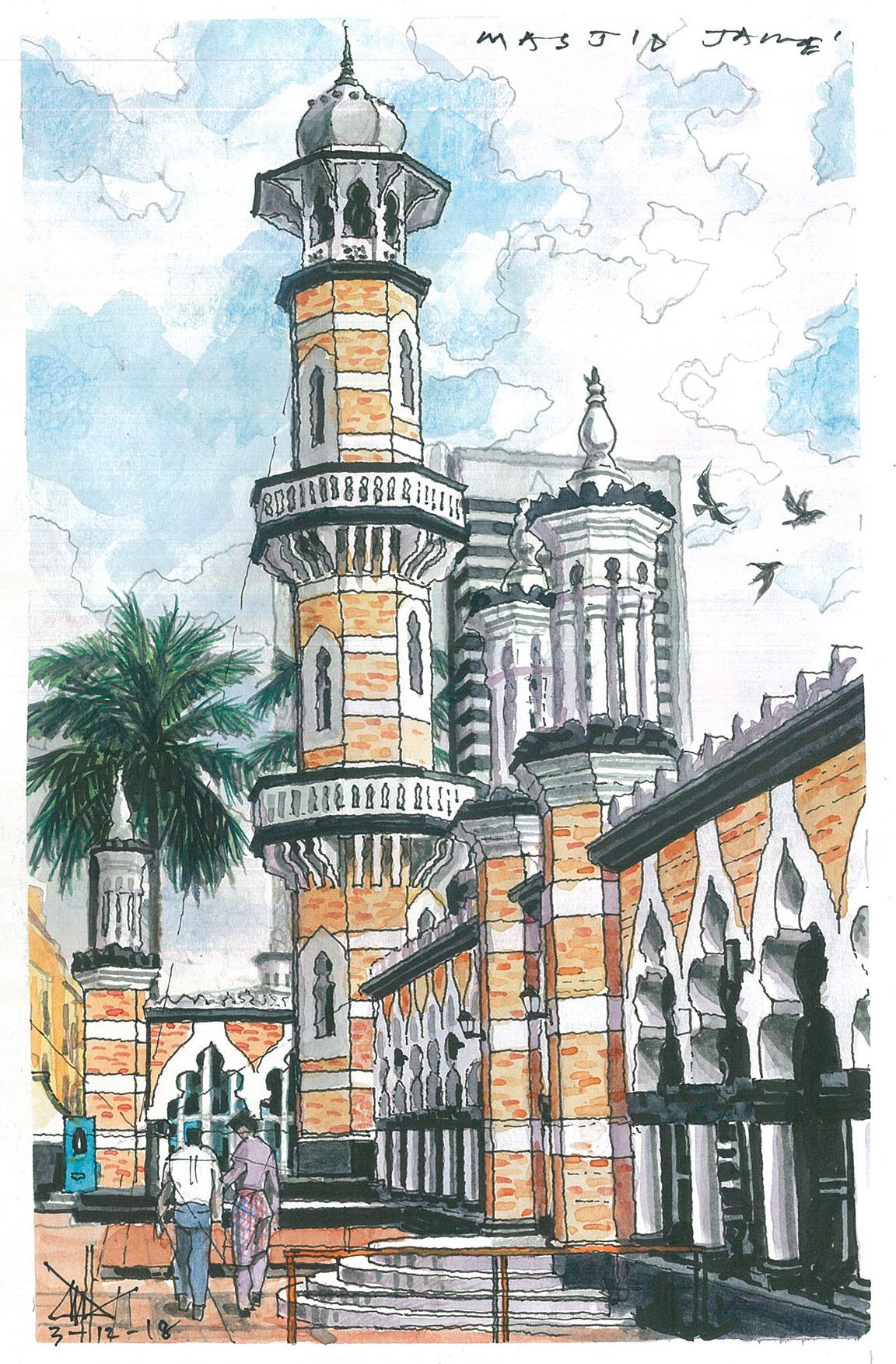 Painting For Sale Sultan Abdul Samad Jamek Mosque Kuala Lumpur